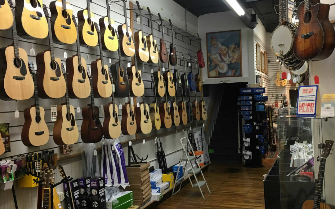 Commercial Interior/Exterior Painting Project – Fret Mill Music
